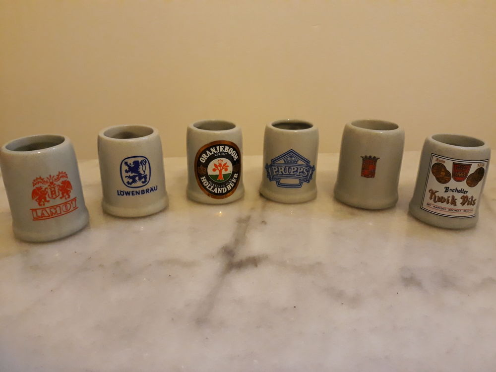 Lot de 6 minis chopes de bière 10 Livry-Gargan (93)