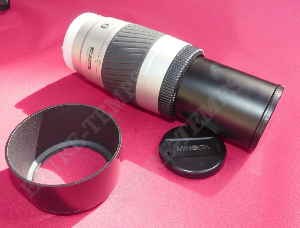 MINOLTA AF ZOOM 75-300 mm 1:4.5-5.6 + PARE-SOLEIL 30 Sergines (89)