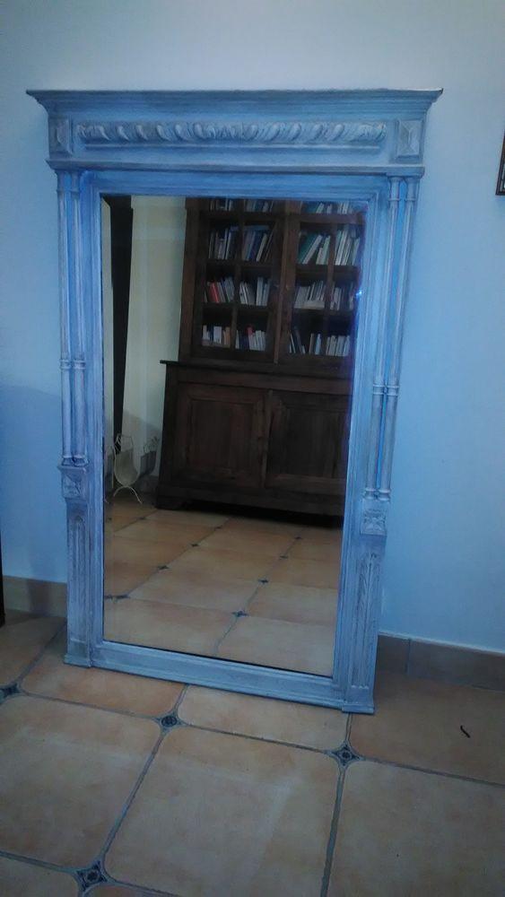 miroir ancien avec cadre en bois 200 Saint-Paul (06)