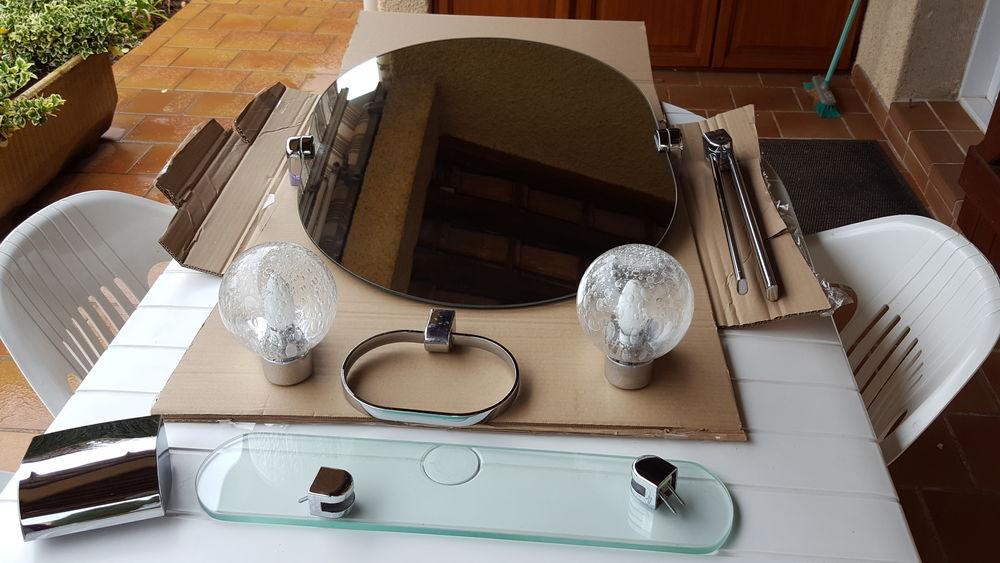 miroir appliques tablette ensemble pour salle d'eau 65 Laroque (34)