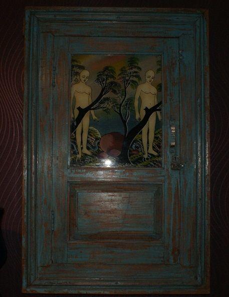 Miroir balinais tres rare 750 Commentry (03)