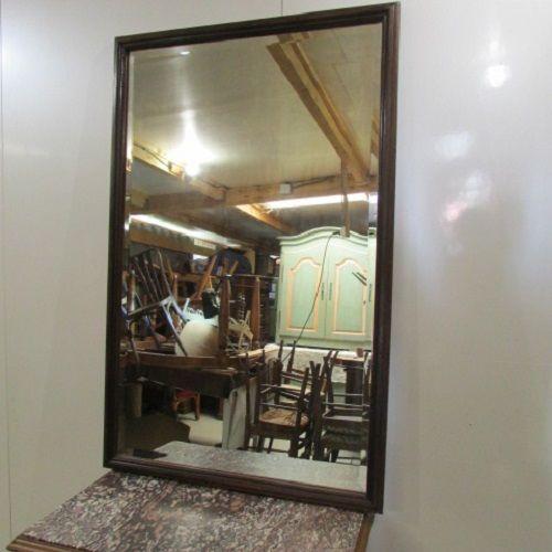 Miroir biseauté , cadre bois sobre  120 Antony (92)