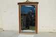 Miroir biseauté de cheminée ,en noyer,art déco, 1920