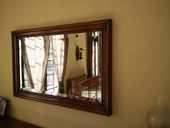 Miroir biseauté en merisier massif  150 Agde (34)