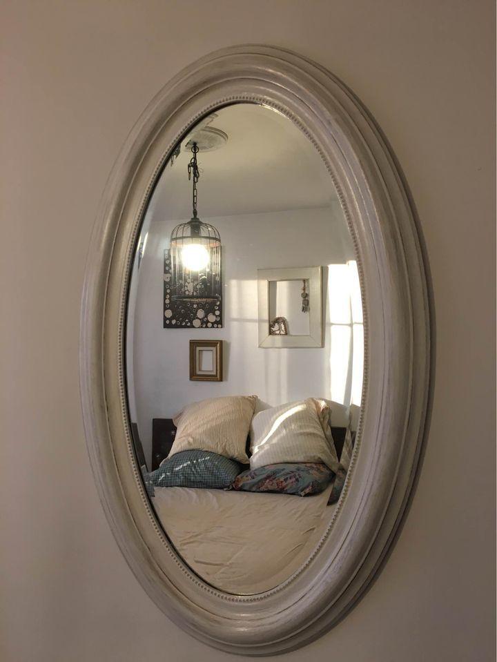 Miroir blanc ovale 65 Poissy (78)