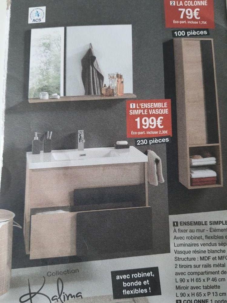 miroir et colonne de salle de salle de bain  50 Poisy (74)