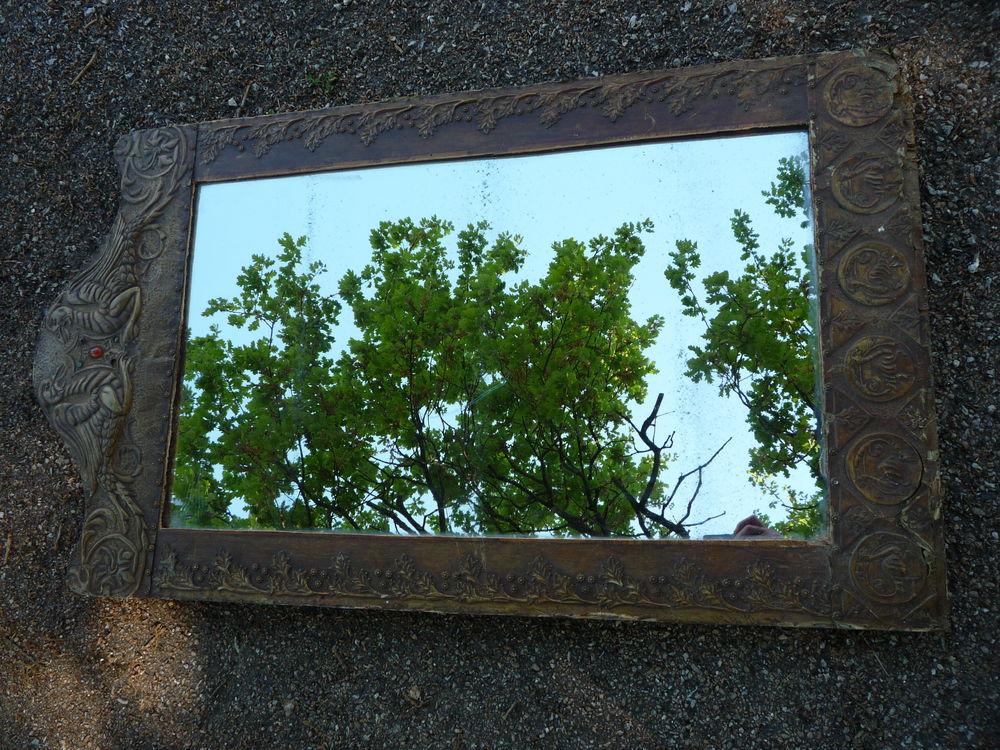 Miroir art déco cuivre repoussé 110,5cm x 62cm dans l'état l 150 Castres (81)