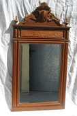 Miroir art deco en noyer biseauté 90 Paris 15 (75)