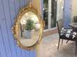 miroir décoratif ovale de style.