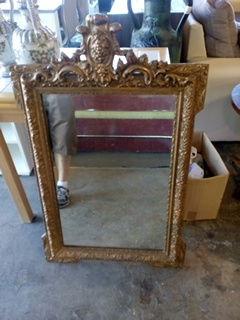 Miroir doré style Louis XV 60 Toulouse (31)