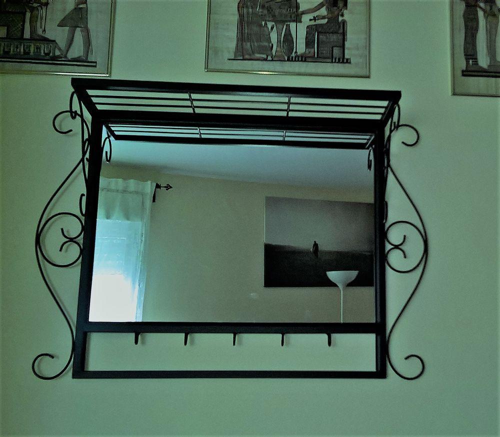 Meubles salle de bain occasion en le de france annonces for Miroir fer forge noir