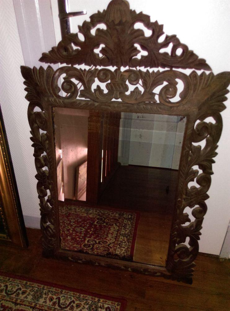 miroir fronton bois sculpté ancien 180 Noyon (60)