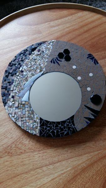 Miroir mosaïque asymétrique 20 Châteaugiron (35)