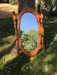 Miroir ovale en pin Meubles