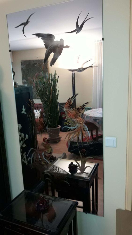 Miroir peint main  60 Boulogne-Billancourt (92)