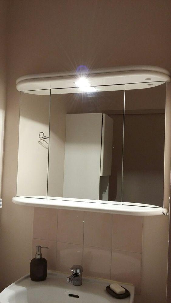 Miroir de salle de bain laqué blanc Decotec et ccessoires 50 Marseille 9 (13)