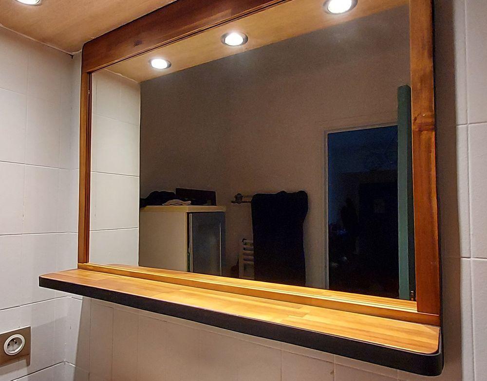 Miroir de salle de bain en bois d'acacia  90 Nice (06)