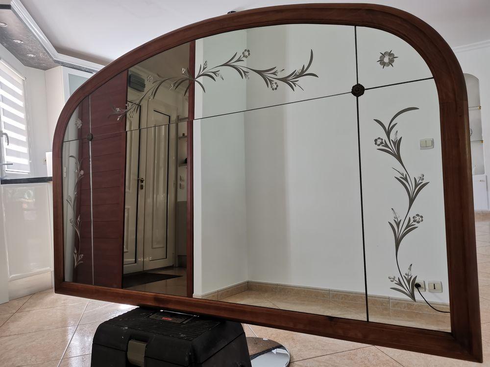 Miroir sculpté et cadre en merisier 165 La Bazoge (72)