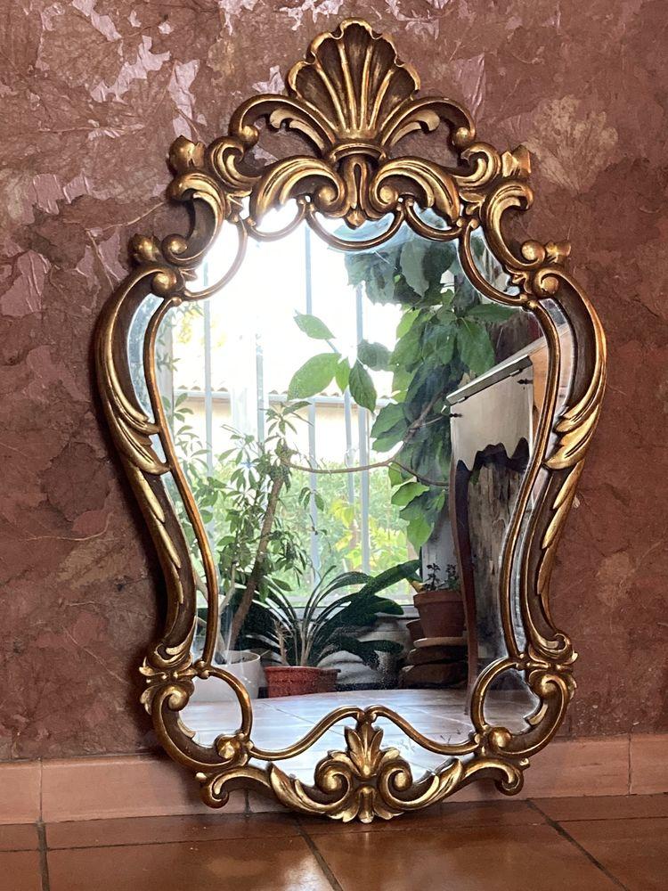 2 miroirs de style baroque en bois doré 150 Terssac (81)