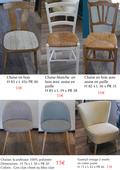 mobilier intérieur/extérieur chaises/tables/fauteuils 10 Cagnes-sur-Mer (06)