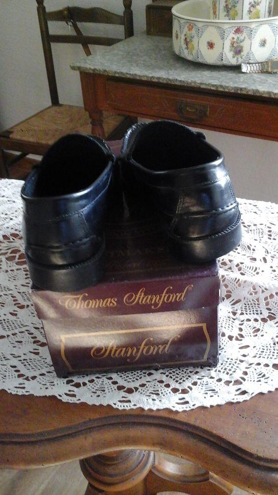 Mocassins noir en cuir Thomas Stanford 30 Saint-Gaudens (31)