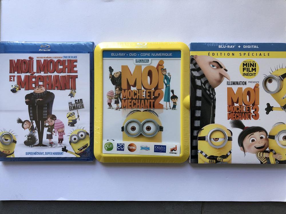 Blu-ray - Moi moche et méchant 1,2 et 3 20 Saint-Julien-lès-Metz (57)
