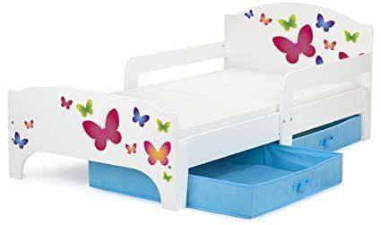 Moderne Smart Lit d'Enfant 140x70 Motif Papillons  50 Nice (06)