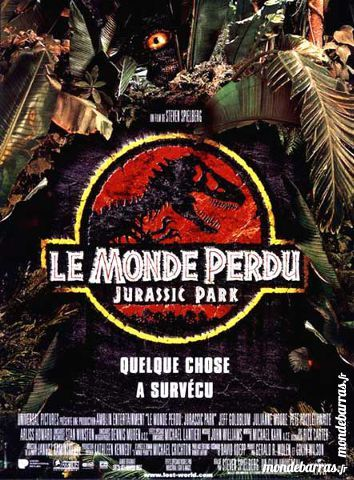 K7 vhs : Le Monde Perdu : Jurassic Park (397) 6 Saint-Quentin (02)