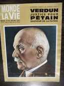 le MONDE et LA VIE VERDUN justice pour PÉTAIN.No 156 de 1966 36 Tours (37)