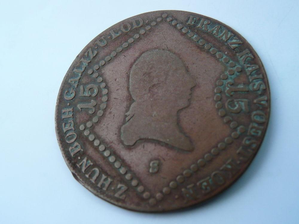 Monnaie Autriche 15 krenzer 1807 lettre S 23 Bordeaux (33)