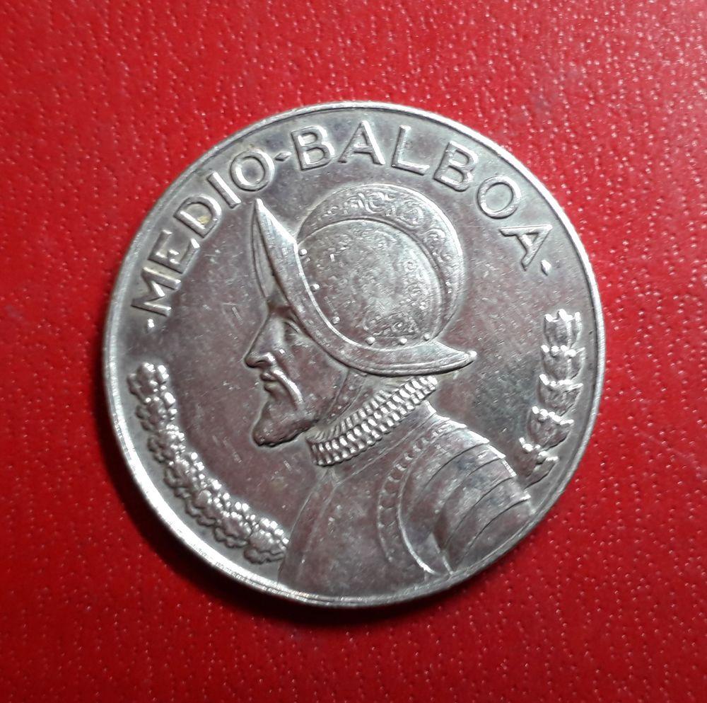 1 monnaie de collection argent  Panama 1/2 Balboa 1947 30 Saint-Jean-d'Angély (17)