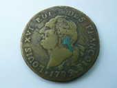 Monnaie Louis XVI 30 SOLS 1792 lettre i 87 Bordeaux (33)