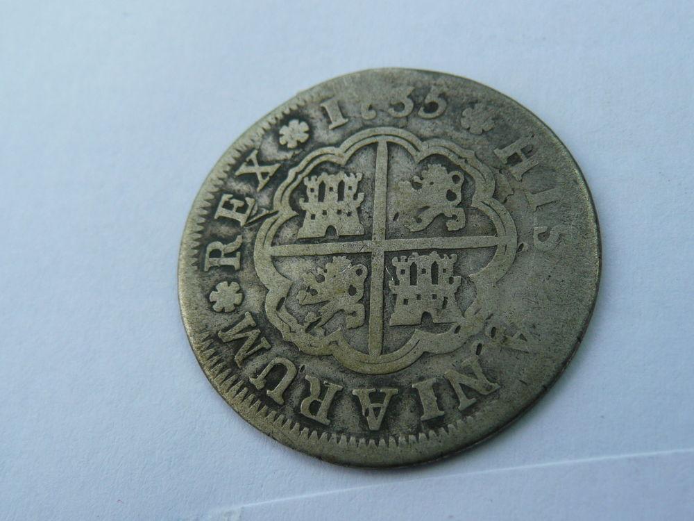 Monnaie Philippe V 2 réales 1735 Espagne 43 Bordeaux (33)