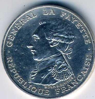 Monnaie - pièce 100 francs argent 0 Courchelettes (59)