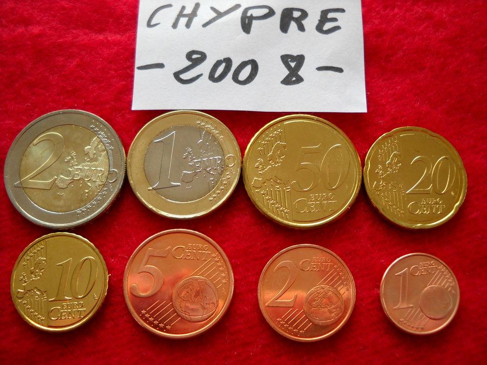 Monnaie - pièces euros - CHYPRE / 2008 11 € 11 Roanne (42)