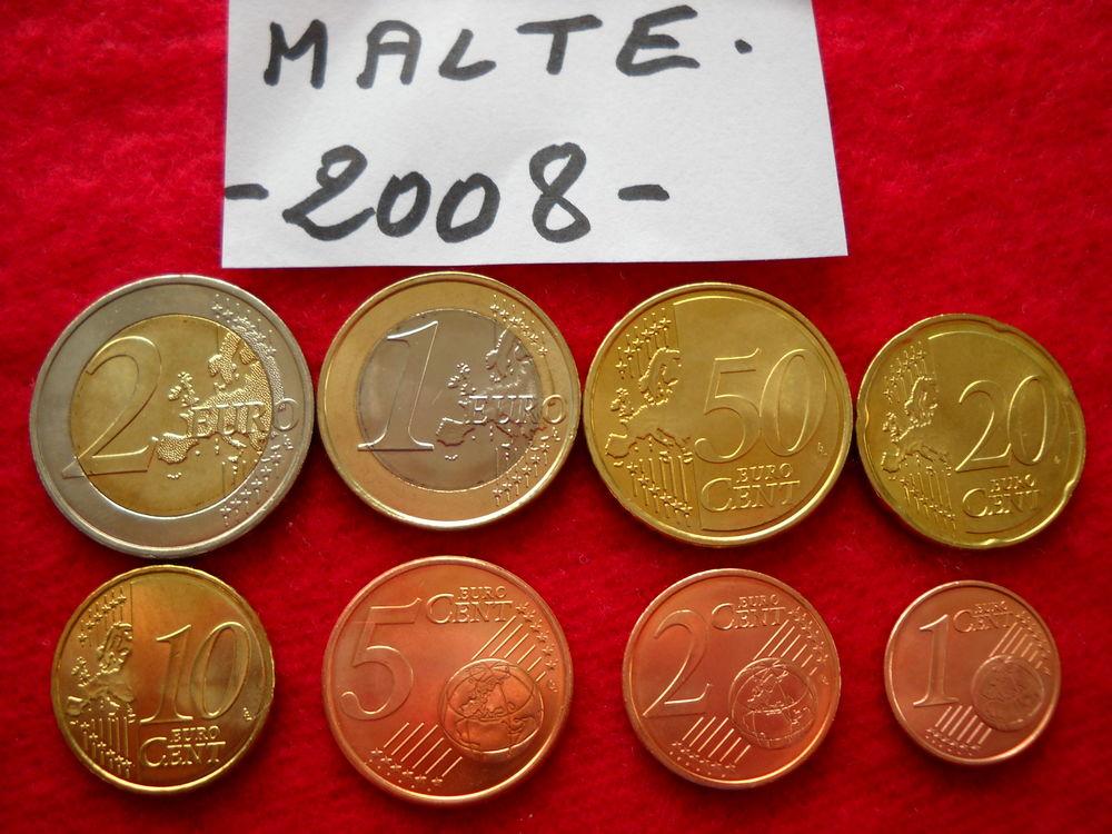 Monnaie pièces euros - MALTE / 2008 12 € 12 Roanne (42)