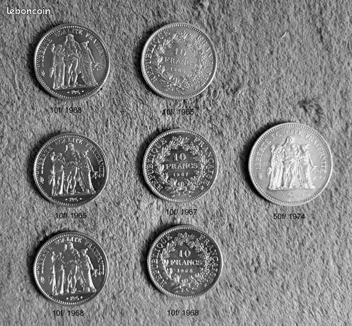 Monnaie pièces Hercule. 180 Arquian (58)