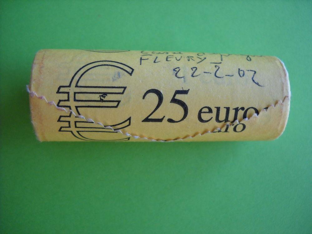 MONNAIE : rouleau de 25 pièces de 1 € (d'origine) 48 Roanne (42)