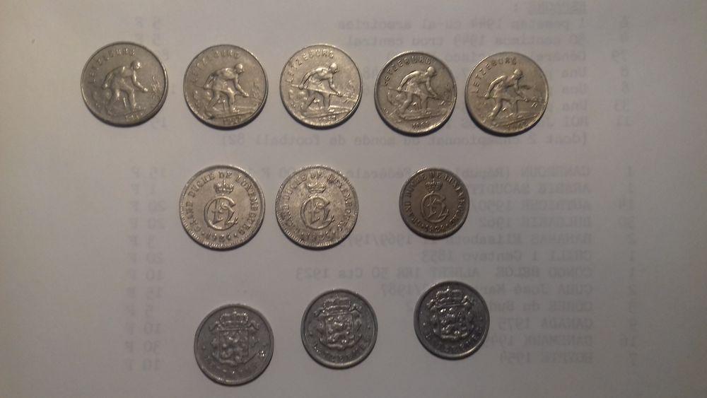 MONNAIES du LUXEMBOURG 1860 à 1970 5 Éragny (95)
