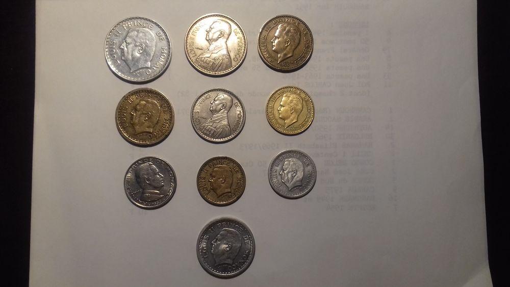 MONNAIES de MONACO 1943 à 1966 5 Éragny (95)