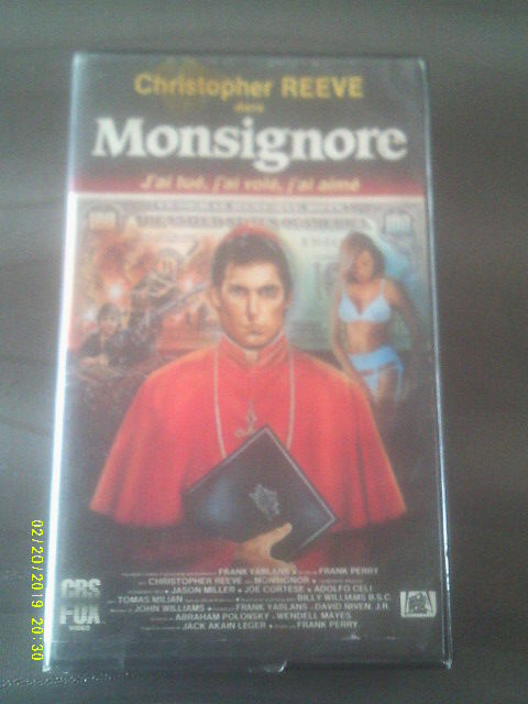 MONSIGNORE avec christopher Reeve DVD et blu-ray