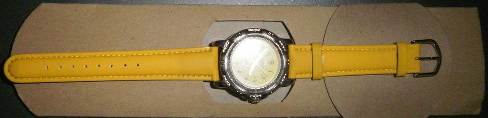 montre neuve unisex norwitch quartz bracelet jaune 4 Versailles (78)