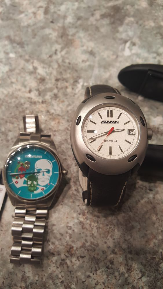 2 montre neuve zadig et Voltaire et carrera sans boite.  80 Villeurbanne (69)