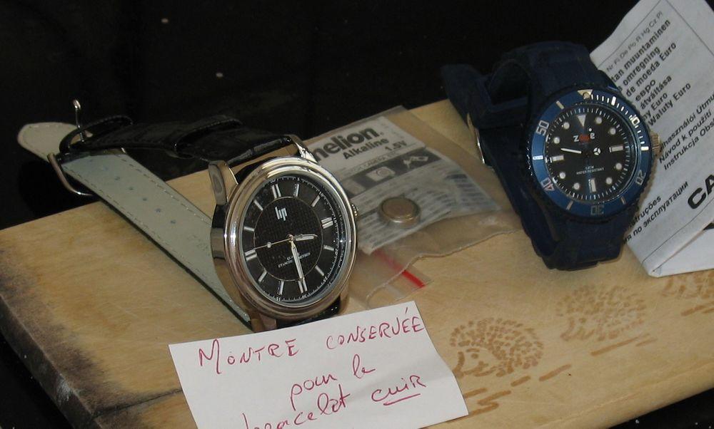 2 montres H et F (avec leur pile de rechange) 23 Paris 13 (75)