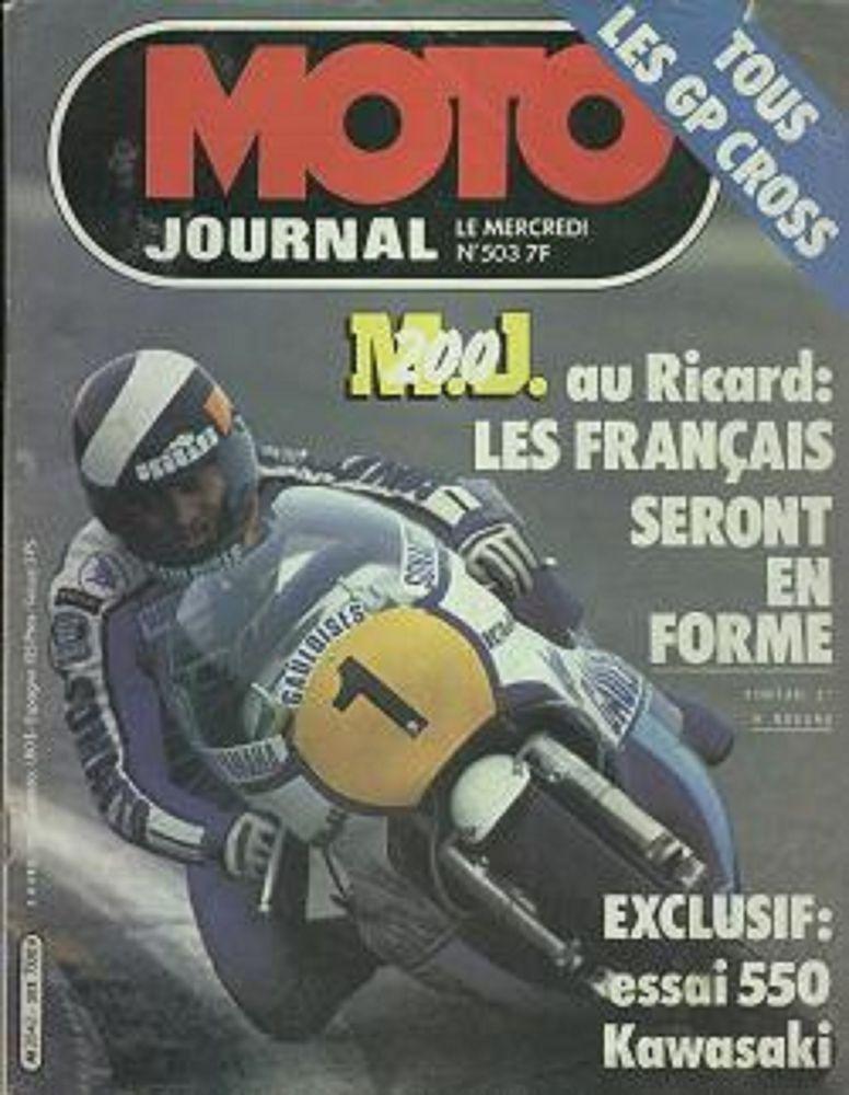 MOTO JOURNAL n°503 1981  KAWASAKI GPZ 550  OSSA 240 Abricot 2 Castelnau-sur-Gupie (47)