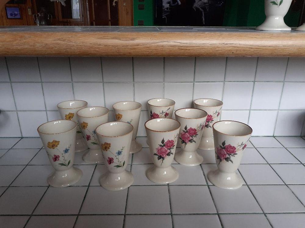 10 mugs à fleurs Neuf Cuisine