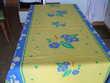 Nappe coton jaune et bleu