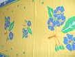 Nappe coton jaune et bleu Décoration