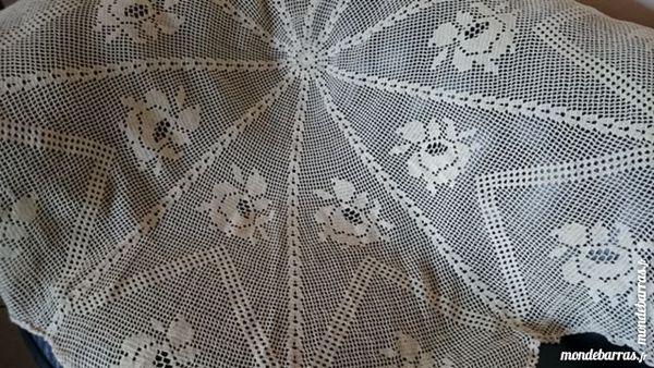 + Nappe ronde crochet 145 cm diamètre fait mains 82 Quetigny (21)