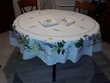 Nappe ronde et 8 serviettes